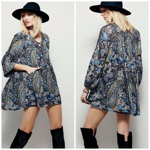 Free People Rain or Shine Paisley Floral Dress
